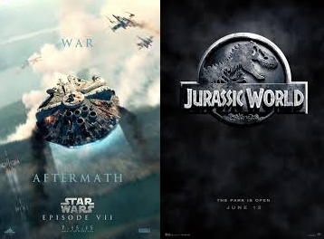 star wars y Jurassic world 2015